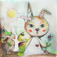 Whimsical Mixed Media Bunnies