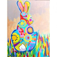 Mosaic Easter Bunnies