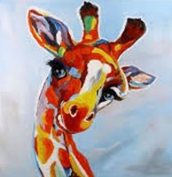 Painting Quirky Giraffes in Acrylics and Pens (Fully Booked)
